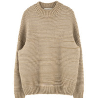 Baggy Melange Knit Sweater | MIXXMIX
