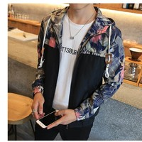 Floral Hooded Slim-Fit Jacket - 6 Styles - Sizes M - 5XL