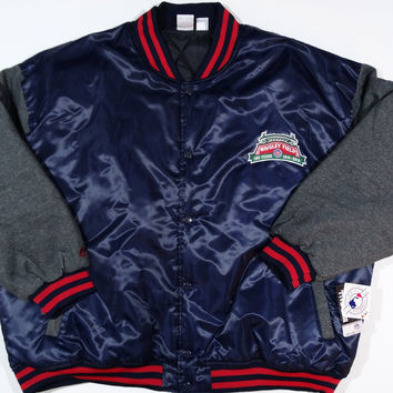 Chicago Cubs Majestic 100 Years of Wrigley Field Commemorative Jacket Big and Tall Sizes