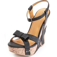 Studded Bow-Front Wedge Sandal: Charlotte Russe