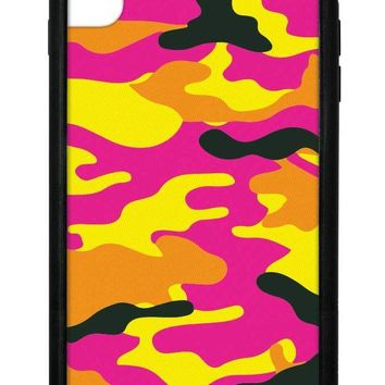 Neon Camo iPhone Xs Max Case