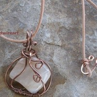 Caged Moonstone Reversable 2 side Pendant on Handmade Artists' Shop