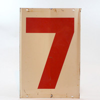 Vintage Gas Station Number 4 XL / Vintage Sign / Industrial