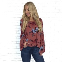 Sunset Bloom Floral Blouse