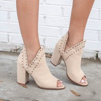 RESTOCK A Million Reasons Studded Peep Toe Bootie