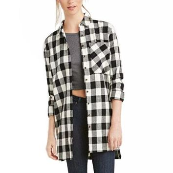 [15569] Button Down Gingham Shirt
