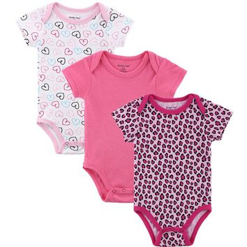 Baby Girl Boy Clothes Cute Bodysuits Cartoon Cotton Baby Wear Heart Printed Summer Infant Jumpsuit Boy Girl Baby Clothing