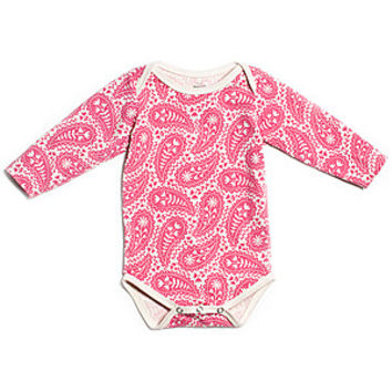 Winter Water Factory Pink Paisley Organic Onesuit
