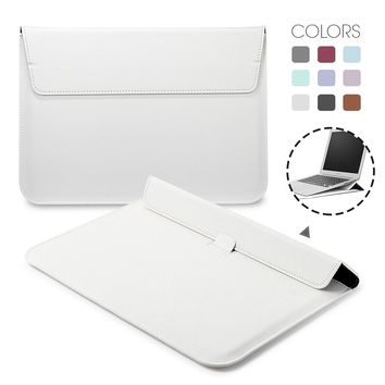Liner Leather magnet Notebook Bag Holder Case For Apple Macbook Air Pro Retina 11 12 13 15 Laptop  Cover For Mac book 13.3 inch