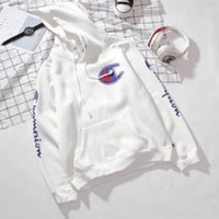 Champion Fashion Top Sweater Pullover Hoodie Sweatshirt White I