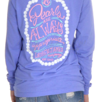 Lauren James Pearls Are Appropriate Longsleeve