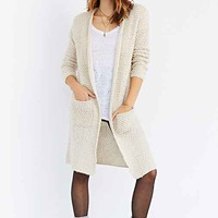 Ecote Loopy Midi Cardigan Sweater- Ivory