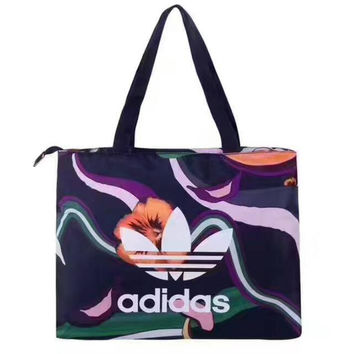 Adidas print Multicolor Luggage Bags Tote Handbag Satchel bag H-A-GHSY-1