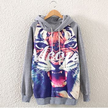 Tiger letters hooded sweater
