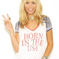 Chaser Born in the USA Tee in White/Blue/Red | Boutique To You