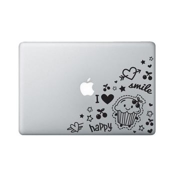 Doodles Laptop Decal - Cupcake Macbook Sticker - Heart Laptop Decal