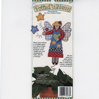 Folk Angel Potted Whimsy Counted Cross Stitch Embroidery Kit