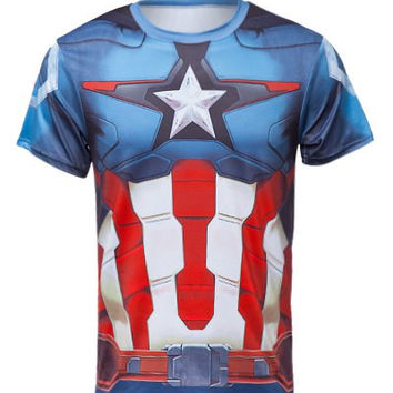"""Captain America"" Short Sleeve T-Shirt"