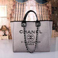 shosouvenir :CHANEL Women Shopping Bag Leather Satchel Shoulder Bag Crossbody
