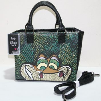 Licensed cool NEW DISNEY Loungefly THE JUNGLE BOOK KAA Snake Hand Bag Purse W/ Shoulder Strap
