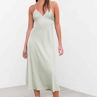 Silence + Noise Silencer Bias-Cut Satin Slip Dress