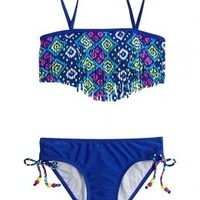 Aztec Fringe Bikini Swimsuit | Girls Bikinis Clearance Swimsuits | Shop Justice