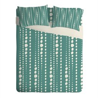 Heather Dutton Bestrewn Lagoon Sheet Set Lightweight