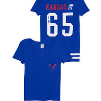 UNIVERSITY OF KANSAS V-Neck Pocket Tee - PINK - Victoria's Secret