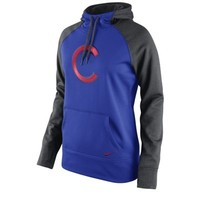 Women's Chicago Cubs Nike Royal Blue All Time Performance 1.5 Pullover Hoodie