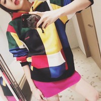 """""""Supreme"""" Unisex Casual Fashion Personality Multicolor Long Sleeve Hooded Sweater Couple Sweatshirt Tops"""