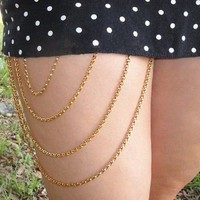 Strong Character Handcrafts Stylish Tassels Chain Body Accessory [7241140871]