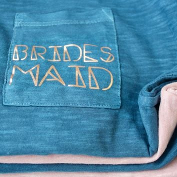 Bridesmaid / Bridal Party Pocket T-Shirt - Geometric