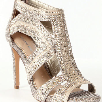 Gianni Bini Sianna Jeweled Beaded Dress Sandals | Dillards