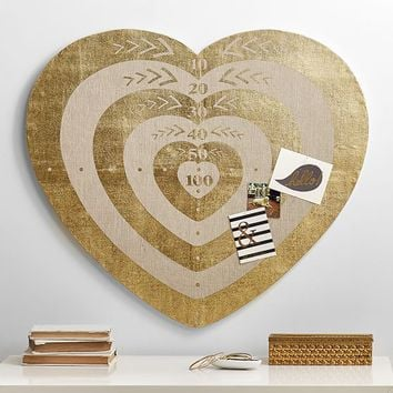 The Emily & Meritt Heart Bull's Eye Pinboard