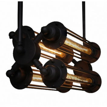 4 lights euro concise modern industrial retro PUNK edison pendant lamp ligt for bar counter restaurant