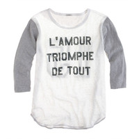 LINEN BASEBALL TEE IN L'AMOUR TRIOMPHE