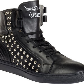 Mauri 6118 Black Studded High-top Sneakers