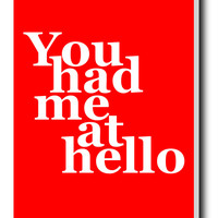 You Had Me At Hello | Jerry Maguire Stretched Canvas Print