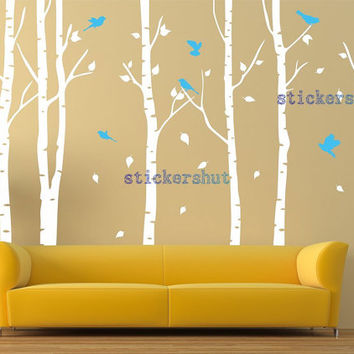 Shop Birch Tree Nursery On Wanelo - Vinyl wall decals birch tree