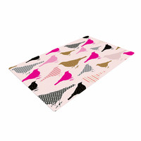"Suzanne Carter ""Chirp"" Bird Pattern Woven Area Rug"