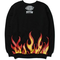 THRASHER Fashion Casual Print Long Sleeve Cotton Top Sweater Pullover