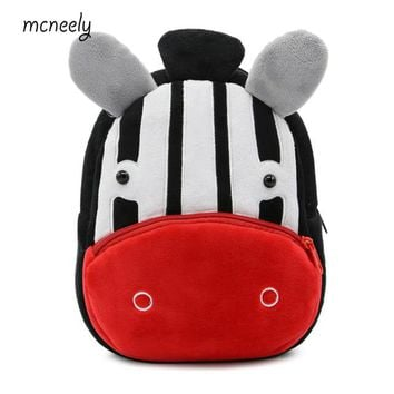 School Backpack Preschool Kids Plush Backpacks Kindergarten Baby Girls Boys Cute Schoolbag 2-4 Years Old Children Cartoon School Bags AT_48_3
