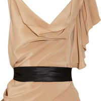 Gryphon Belle ruffled silk top - 65% Off Now at THE OUTNET