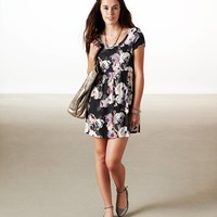 AE Flowery Printed Dress | American Eagle Outfitters
