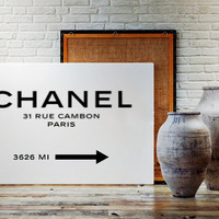 Chanel Logo Art PRINTABLE 31 Rue Cambon Paris Fashion Coco Chanel Print Chanel Art Poster Wall Art Print COCO CHANEL Prada Marfa Paris Print
