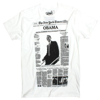 Barack Obama T-Shirt NYT Front Page Election Result Article by Altru Apparel