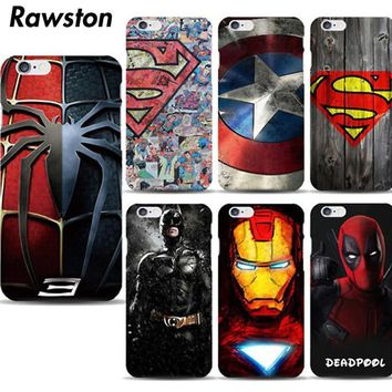 Deadpool Dead pool Taco Marvel Avengers Superman Hard Case Cover for iPhone 8  7 6s Plus 5s 5 SE funda Batman Super Hero Captain America capa capinha AT_70_6