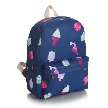 Cute Lovely Sweets Canvas Candy Korean Backpack = 4887751492
