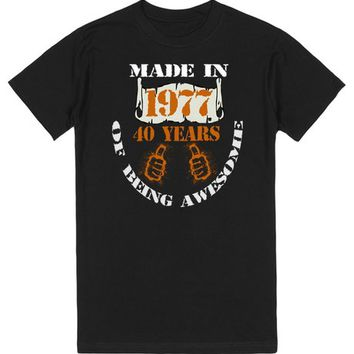 Made in 1977 t-shirt | T-Shirt | SKREENED