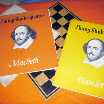 SHAKESPEARE 2 Large Drama Books Vintage 1960s Plays